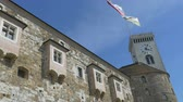 View of Ljubljana Castle in summer time. Stock Footage