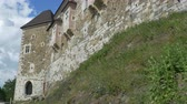View of Ljubljana Castle walls in Slovenia, in summer day. Stock Footage