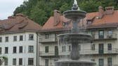 Fountain in ol town of Ljubljana City, in Slovenia.