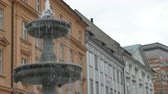 View of a fountain in Ljubljana Town, in Slovenia.