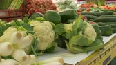 couve flor : Organic cauliflower for sale at the local market.