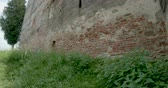View of a Saxon castle in ruins.