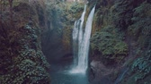 zumbido : Aerial drone view of beautiful Aling Aling waterfall in nothern Bali, Indonesia