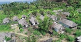 elpusztított : Aerial drone view of abandoned houses on tropical island of Bali, Indonesia