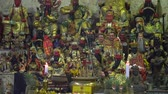 fiel : Gods statues in Chinese temple during Vegetarian Festival at Phuket, Thailand