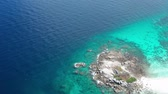 バズ : Aerial drone view of beautiful Koh Racha Yai island, Phuket, Thailand 動画素材