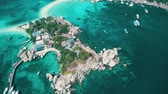turkus : Aerial drone view of beautiful Koh Tao island in Thailand