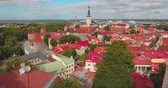 tallin : Aerial view of the old town of Tallinn, Estonia. Preparations for the wedding on a beautiful sunny day