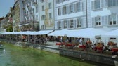 チョコレート : Panorama of the Old Town medieval architecture in Lucerne, Switzerland
