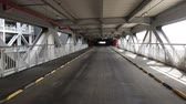 entrada da garagem : Empty parking lot tunnel road. Industrial interior
