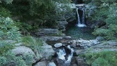 Waterfall in a creek or river with water in Val Grande Italy Stock Footage