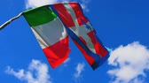 Flag of Italy waving with the wind in the sky Stock Footage