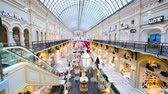 time : MOSCOW, RUSSIA - CIRCA DECEMBER, 2014: 4k timelapse, Christmas time at Gum Department Store. GUM is the name of the main department store in many cities of the former Soviet Union.