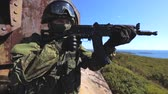 soldado : Special forces soldier on a mission. Soldier aiming
