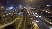 ímpeto : Time lapse video of a rush hour traffic flow at night in Mecidiyekoy, Istanbul, Turkey.  Vídeos