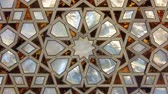 Zooming in on the mother of pearl found in the New Mosque in Istanbul Turkey