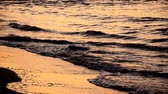 weather : The wave at beach in evenings and sunsets