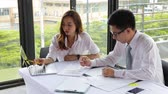 Businessman and Businesswoman work business planning, Teamwork for Success organization.