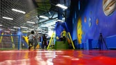 kidzania : Children and parents spend time in a family active recreation park