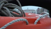 sos : braided sea rope on the lifebuoy.