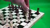 peones : the white queen beats a black pawn, but the dark rook cuts the white queen. Archivo de Video