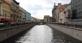 požehnaný : Russia, St. Petersburg, September 02, 2018 the heat ships pass through the canal