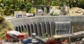 private museum : Russia, St. Petersburg, September 29, 2018 mock dam with traffic on the construction