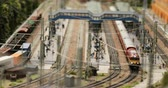 private museum : Russia, St. Petersburg, September 29 2018 logistics trains at the railway station Stock Footage