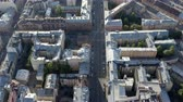 open : densely populated urban residential quarter with ancient house architecture. Aerial photography.