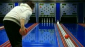 bowling alley : Nine pin bowling strike