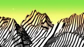 слои : Mountain with zebra pattern,Dream hills in Science Fiction world. Стоковые видеозаписи
