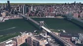 metropolitan : aerial view of New york,satellite navigation,Spectacular city landscape. Stock Footage