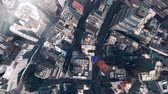 sky : aerial view of New york & sunlight,satellite navigation,spectacular city landscape. Stock Footage