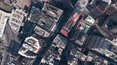 aerial view of New york & sunlight,satellite navigation,spectacular city landscape. Stok Video