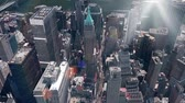 skyline : aerial view of New york & sunlight,spectacular city landscape.