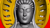 meditation : Moving of 3D Guanyin Buddha Sculpture.religion,statue,goddess,female,pray,culture,chinese,china,belief,asia,