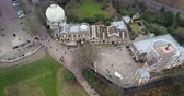 mavic : Birds eye view of Greenwich Observatory 4K video