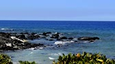 водянистый : Gentle ocean waves lapping at the rocky coast