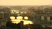 Panoramic view of Florence at sunset, Tuscany, Italy.