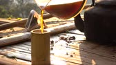 kafeterya : Drip coffee slow motion Stok Video