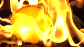 перец чили : Slow motion of fire burning pineapple