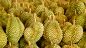 farmers market : Durian in fruit market Stock Footage