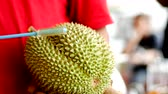 Durian in fruit market 動画素材