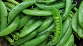 ervilha : Green peas turning slow motion