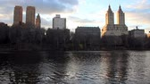 View of Central Park West from Central Park, New York City Стоковые видеозаписи