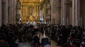 Medium long shot shot Bicentennial of Independence day celebrations in Buenos Aires Cathedral mass, beginning National anthem, Argentina, July 2016 Wideo