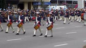 Argentina marching band in Argentina Bicentennial independence day celebrations, Buenos Aires, Argentina, July 2016