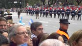Chile marching band going out in Argentina Bicentennial independence day celebrations, Buenos Aires, Argentina, July 2016