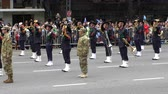 Italy marching band in Argentina Bicentennial independence day celebrations, Buenos Aires, Argentina, July 2016 Wideo