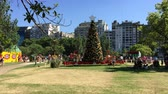 Full shot of Christmas Tree at Christmas Park Buenos Aires day Wideo